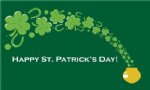 Happy St Patrick's Day Pot of Gold Large Flag - 5' x 3'